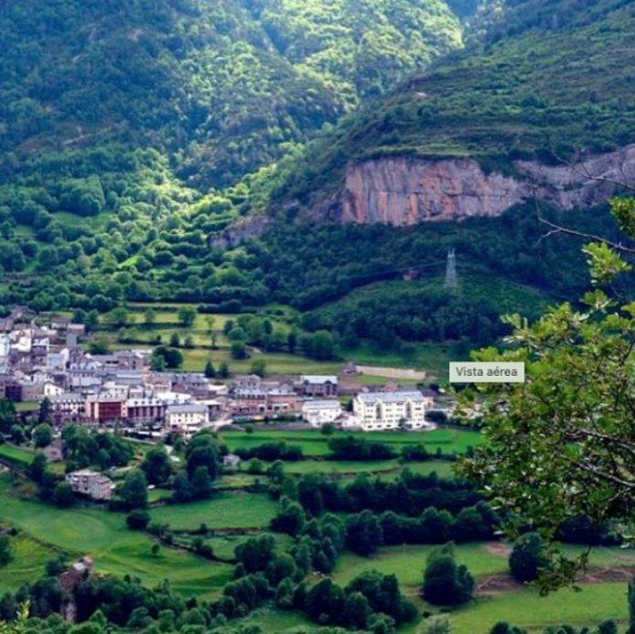 foto aerea de Torla. Huesca . Aragón. Spain