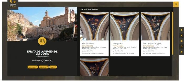Goya. Zaragoza. Spain. Screenshot of the Fundación Goya's new virtual space: Goya's Journey