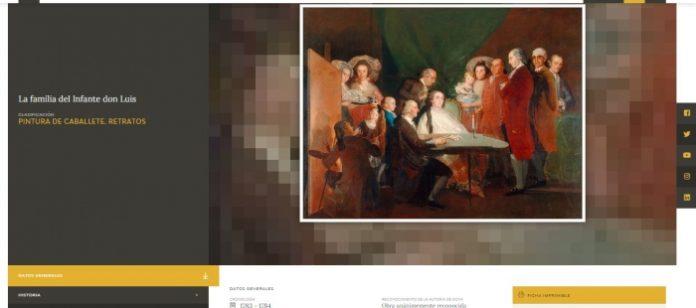 Goya. Zaragoza.Spain Screenshot of the Fundación Goya's new virtual space: Goya's Journey
