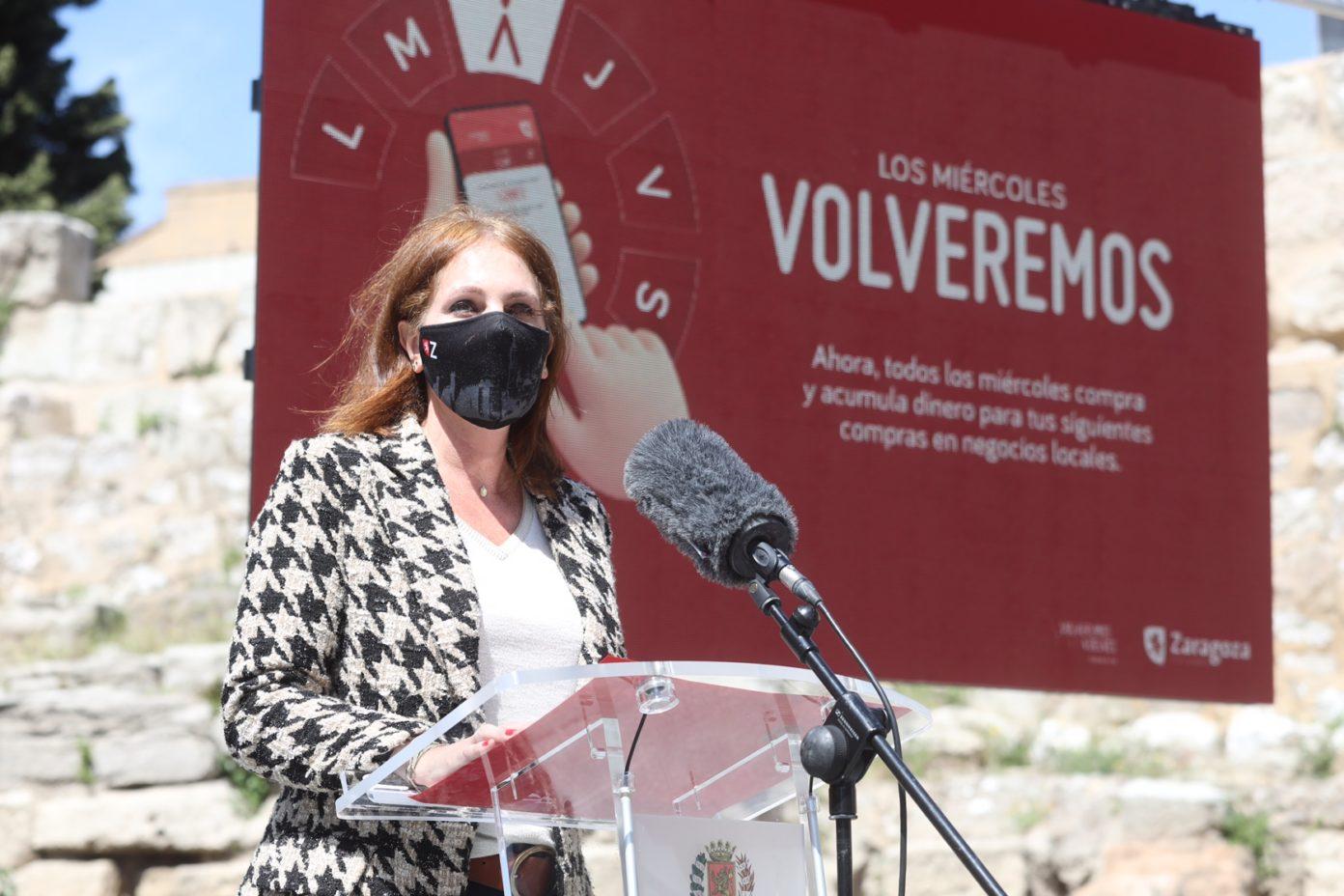 Herrarte during the presentation of Volveremos 2021. (Zaragoza City Council)