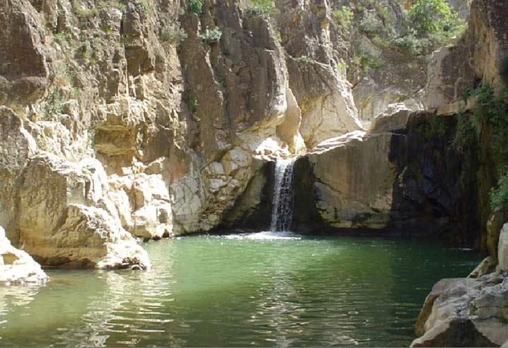 The pools of the Pesquera, in Beceite. (turismodearagon)