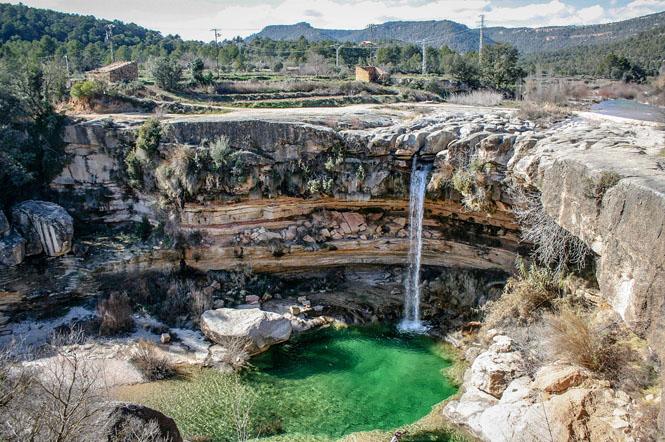 The Salt de la Portellada is one of the most beautiful waterfalls in Teruel. (matarranyaturismo)